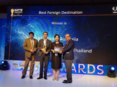 Thailand wins Best Foreign Destination 2019 at SATTE Awards in New Delhi