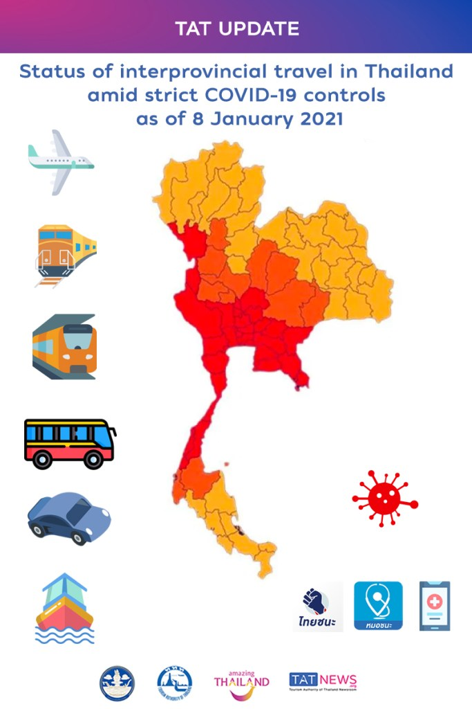 , TAT Update: Status of interprovincial travel in Thailand amid strict COVID-19 controls, For Immediate Release | Official News Wire for the Travel Industry