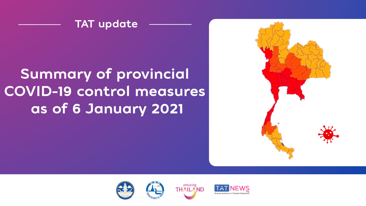 , TAT update: Summary of provincial COVID-19 control measures as of 6 January 2021, For Immediate Release | Official News Wire for the Travel Industry