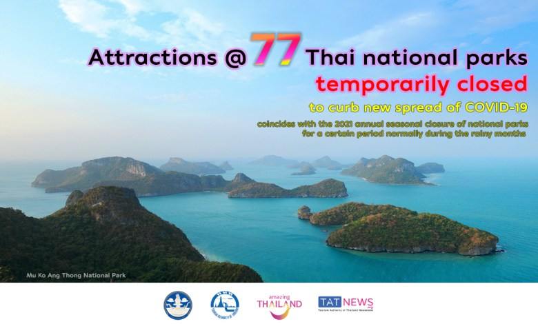 Some Thai national parks temporarily closed to curb new spread of COVID-19
