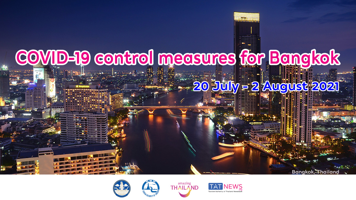 Latest information on COVID-19 control measures for Bangkok