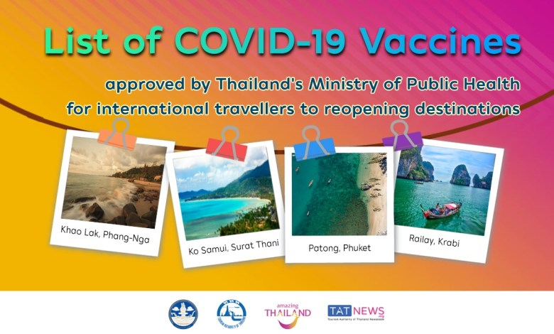 COVID-19 vaccine guide for travellers to Thailand