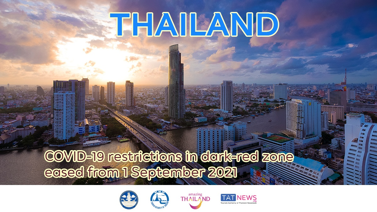 Thailand eases COVID-19 restrictions from 1 September 2021