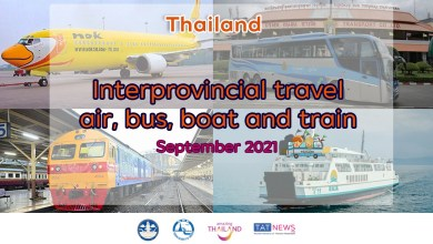 Updates on domestic travel in Thailand in September 2021