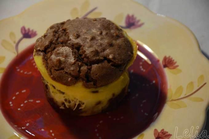 Brownie-Käsekuchen-Törtchen