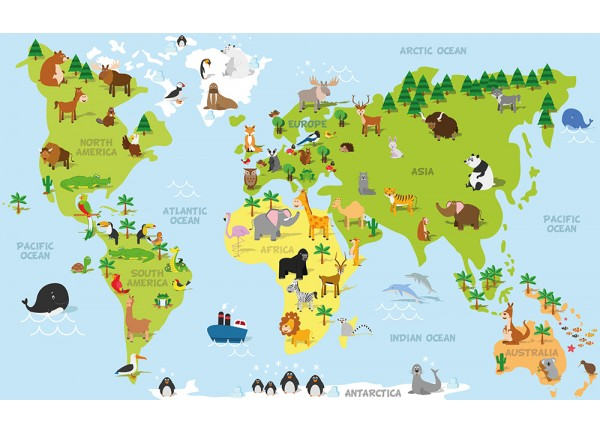 stickers carte du monde enfant