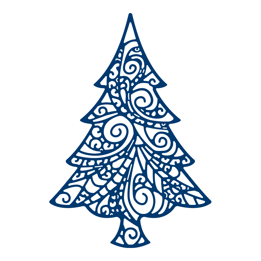 Delicate Christmas Tree TLD0477 Tattered Lace