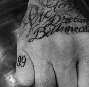 tatouages des stars david beckham