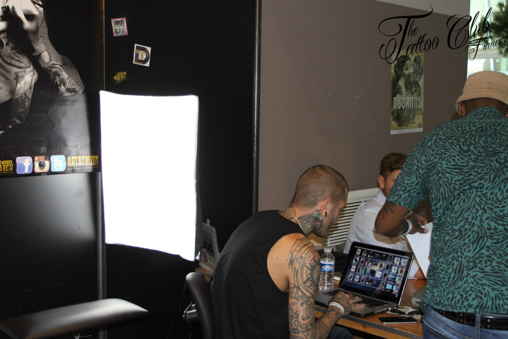 At work :  Rudy Hetzer from Best Ink TV (USA)