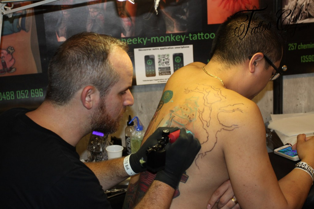 Tattoo Session : Yann Guitton Cheeky Monkey (France)