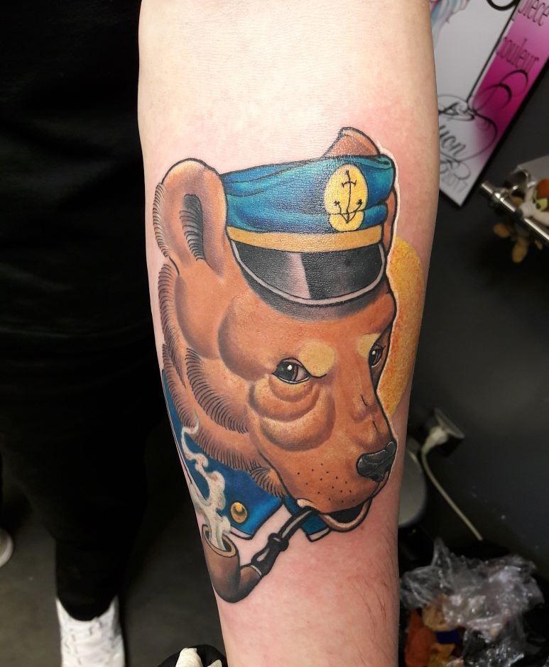 Tattoo ours marin misti-ka yohann