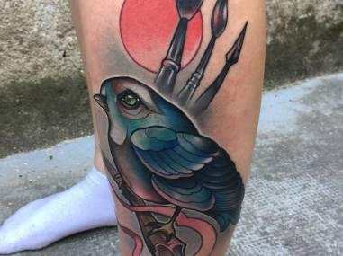 oiseau beaux arts tattoo mistika