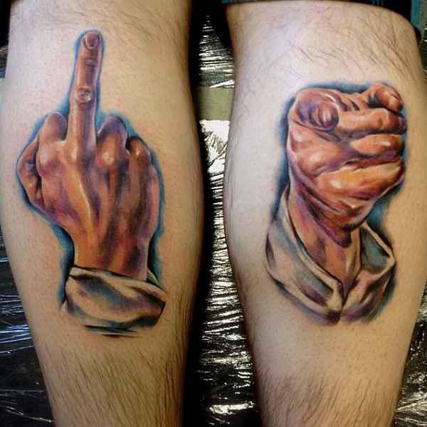 23 Verr 252 Ckte Handzeichen Tattoos Tattoo Spirit