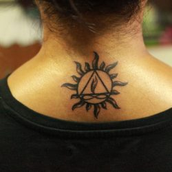 Sun and Twin flame tattoo bangalore india