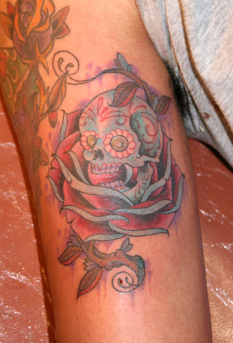 Rose Tattoo - Rose Tattoo Design - Heart and Rose Tattoos