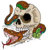 Skull and Snake Tattoo