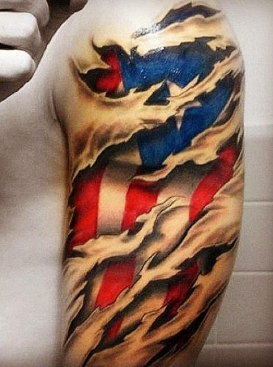 american flag tattoo (17)