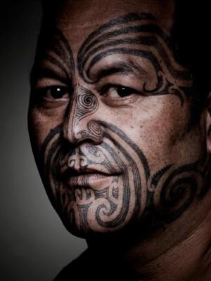 マオリ男性のタトゥー