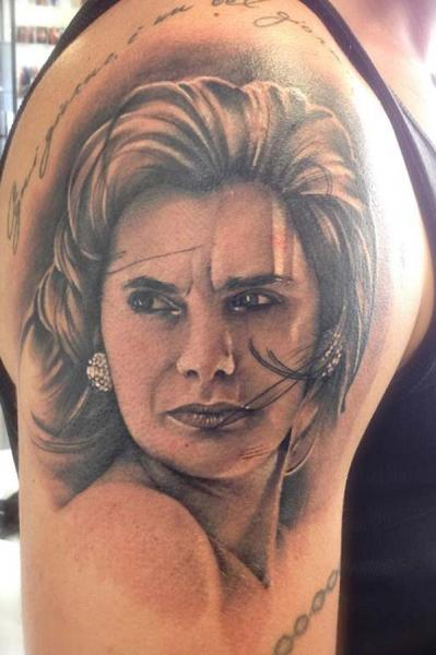 Shoulder Portrait Realistic Tattoo By Tattoo Nero