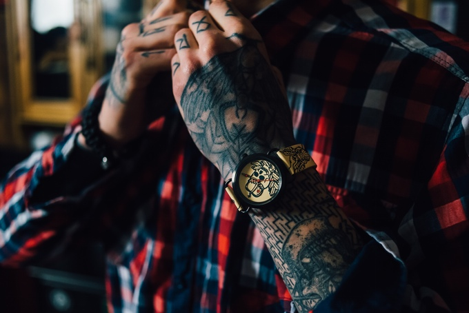 Luxury watches Inkwell with tattoo design