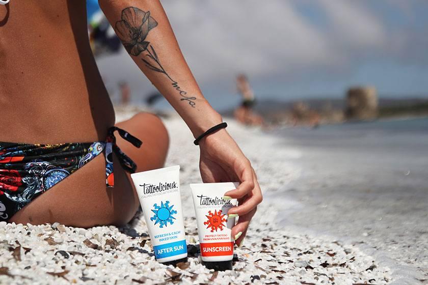 crema solare per tatuaggi