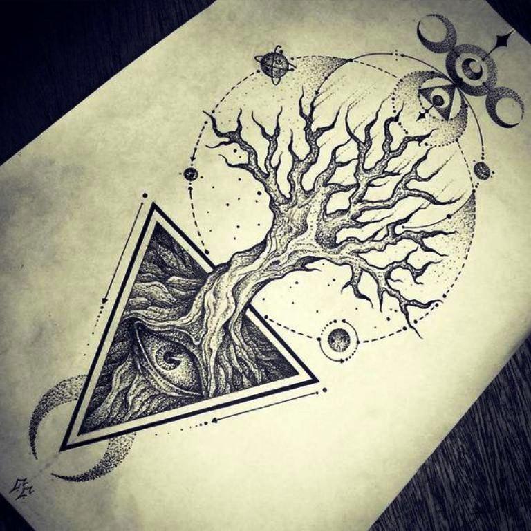 TattooMix Dövmecim ağaç tree dövmeleri (7)