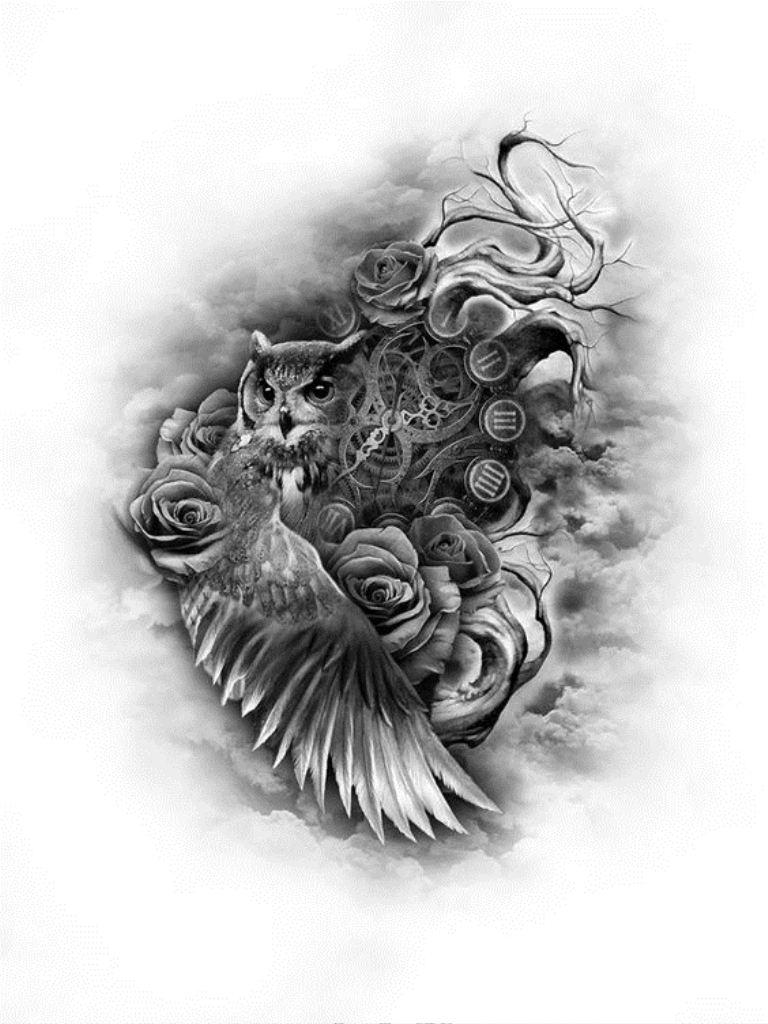 TattooMix Dövmecim baykuş owl dövmeleri (2)