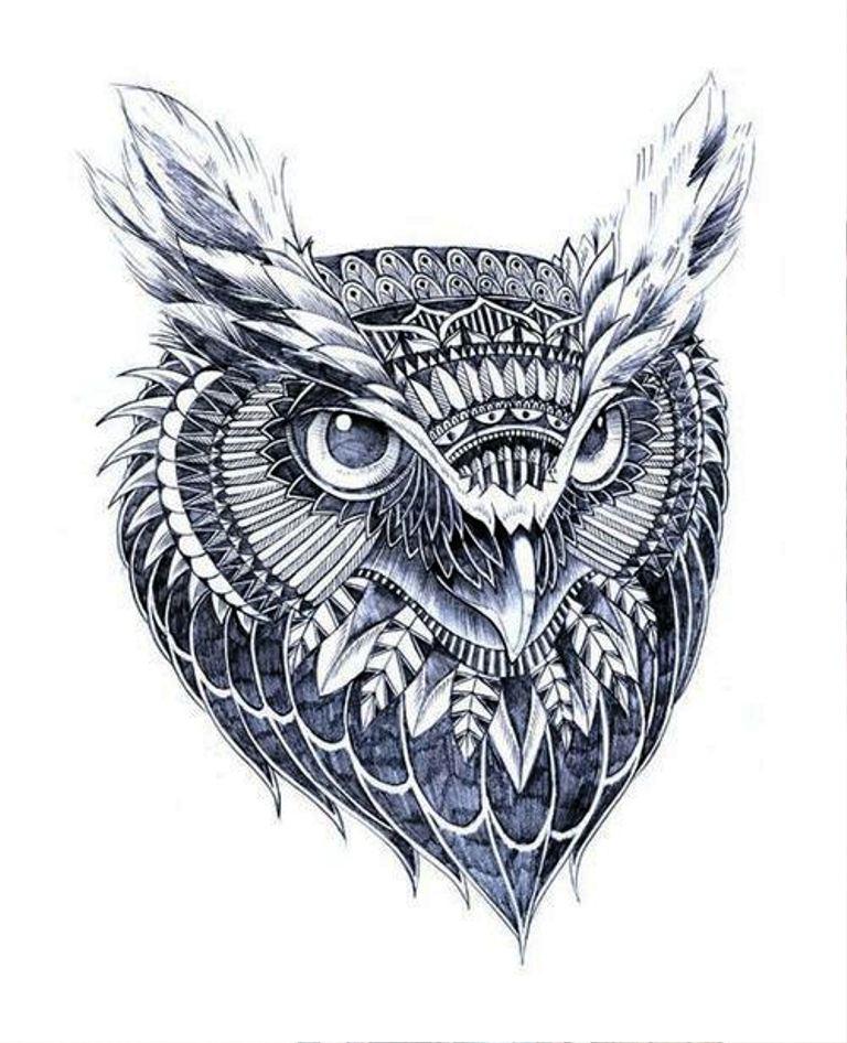 TattooMix Dövmecim baykuş owl dövmeleri (6)