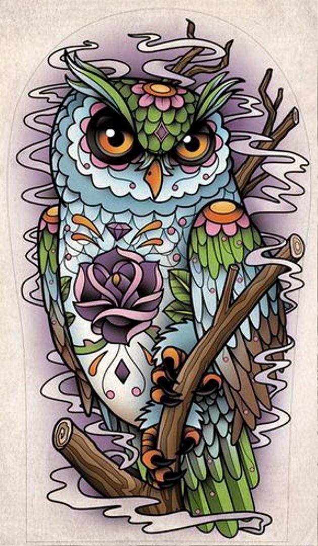 TattooMix Dövmecim baykuş owl dövmeleri (7)