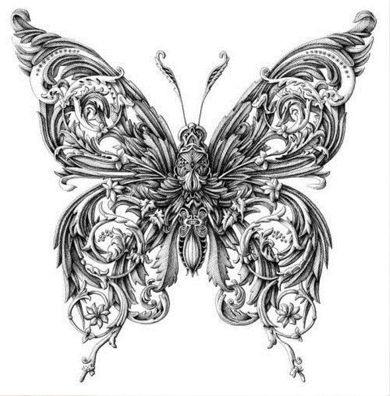 TattooMix Dövmecim kelebek dövmeleri (14)