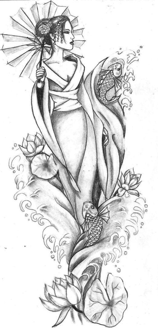 TattooMix Dövmecim samurai geyşa dövmeleri (1)