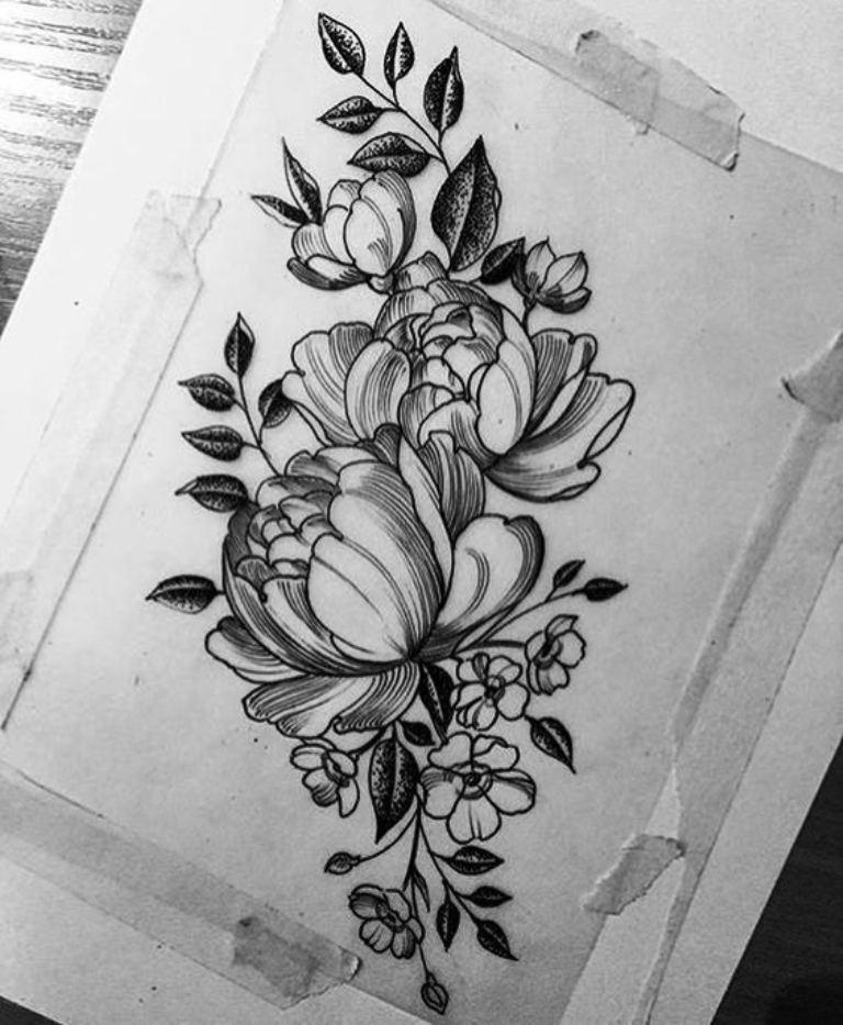 tattoo mix dövmecim çiçek dövmeleri (7)