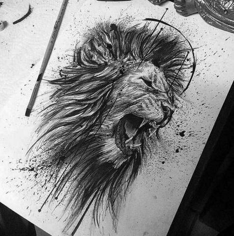tattoo mix dövmecim aslan dövmeleri (12)