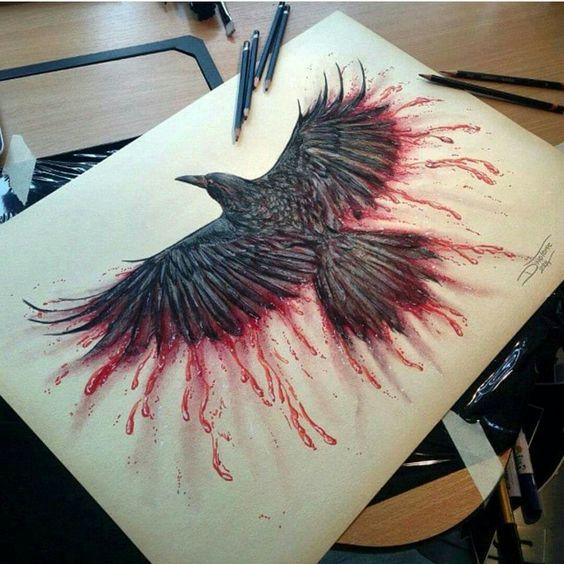 tattoo mix dövmecim karga dövmeleri (6)