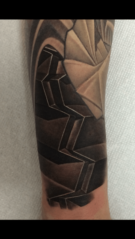 Black and Gray abstract Tattoo by Cory Cudney: TattooNOW