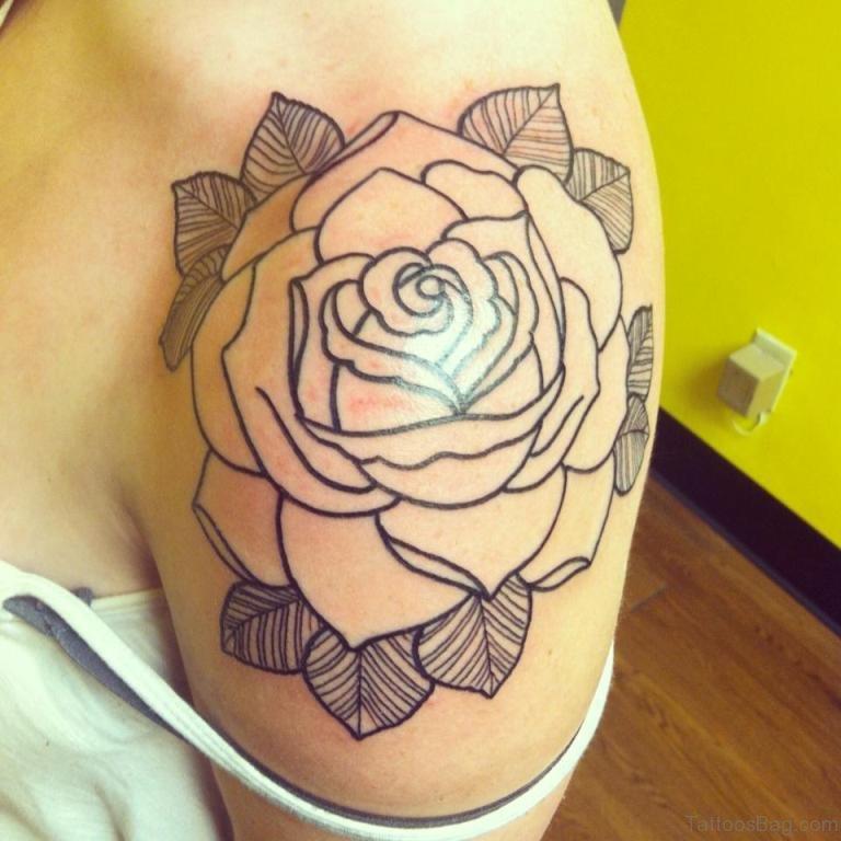 57 Pleasant Black Rose Tattoo Designs