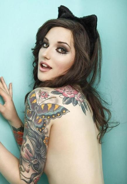 A conservative butterfly can be exceptional in a proper half sleeve tattoo