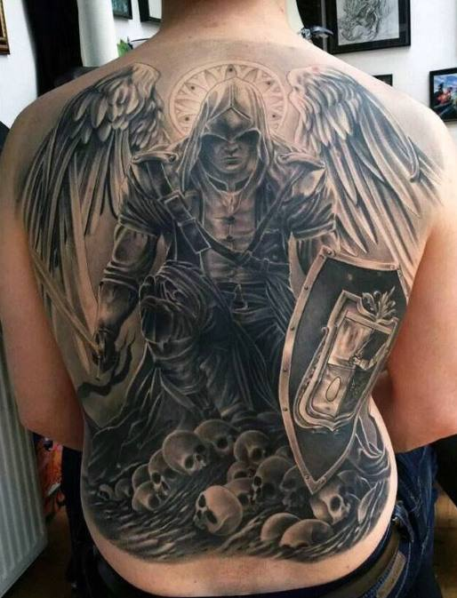 Assassin's Creed Theme Angel Tattoo