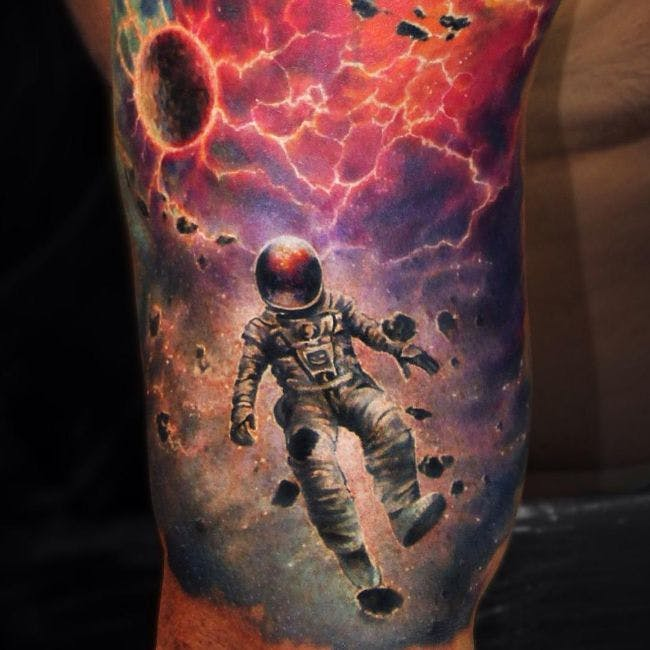 85 Space and Galaxy Tattoo Designs and Ideas – Tattoos that are from Outer Space