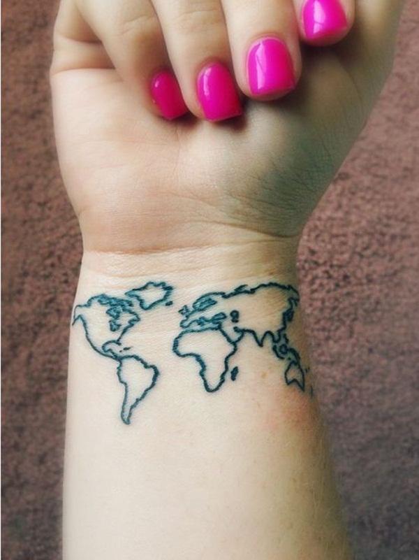 Smart Map Tattoo Design And Ideas 3 - Tattoos Era