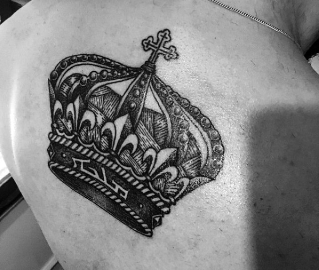 Back Crown Tattoos For Men