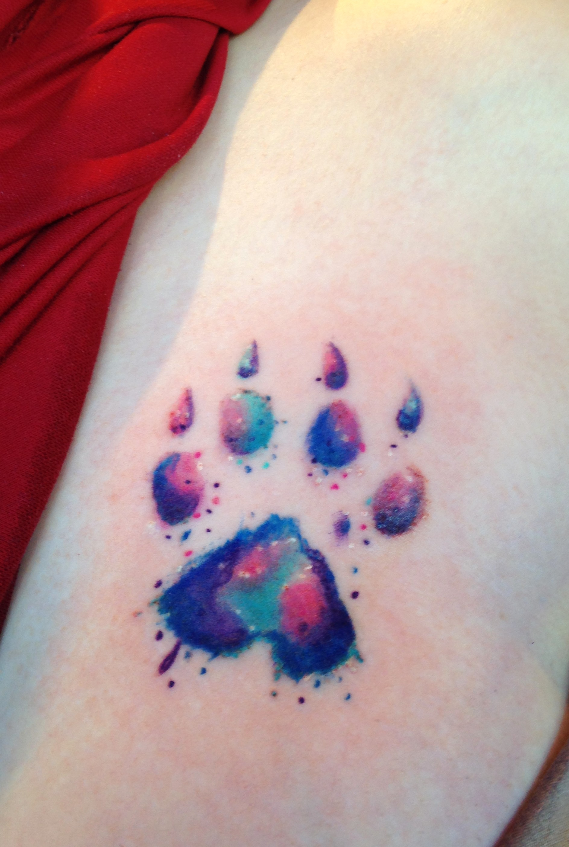 Watercolor Paw Print Tattoo Designs Ideas And Meaning