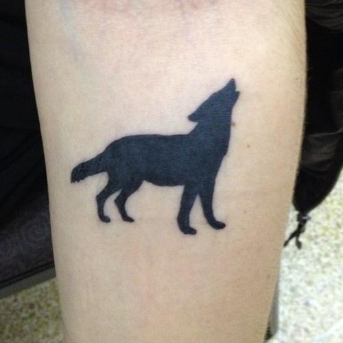 Small Tumblr Wolf Tattoo