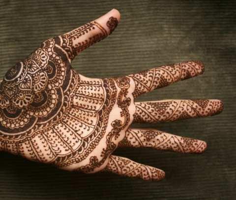 Henna tattoo on hand