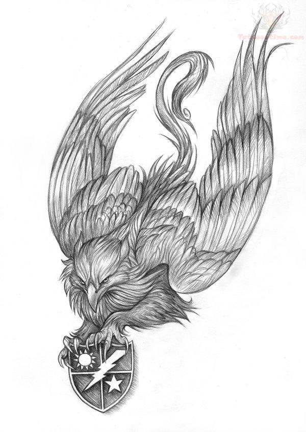Ranger Griffin Tattoo Design