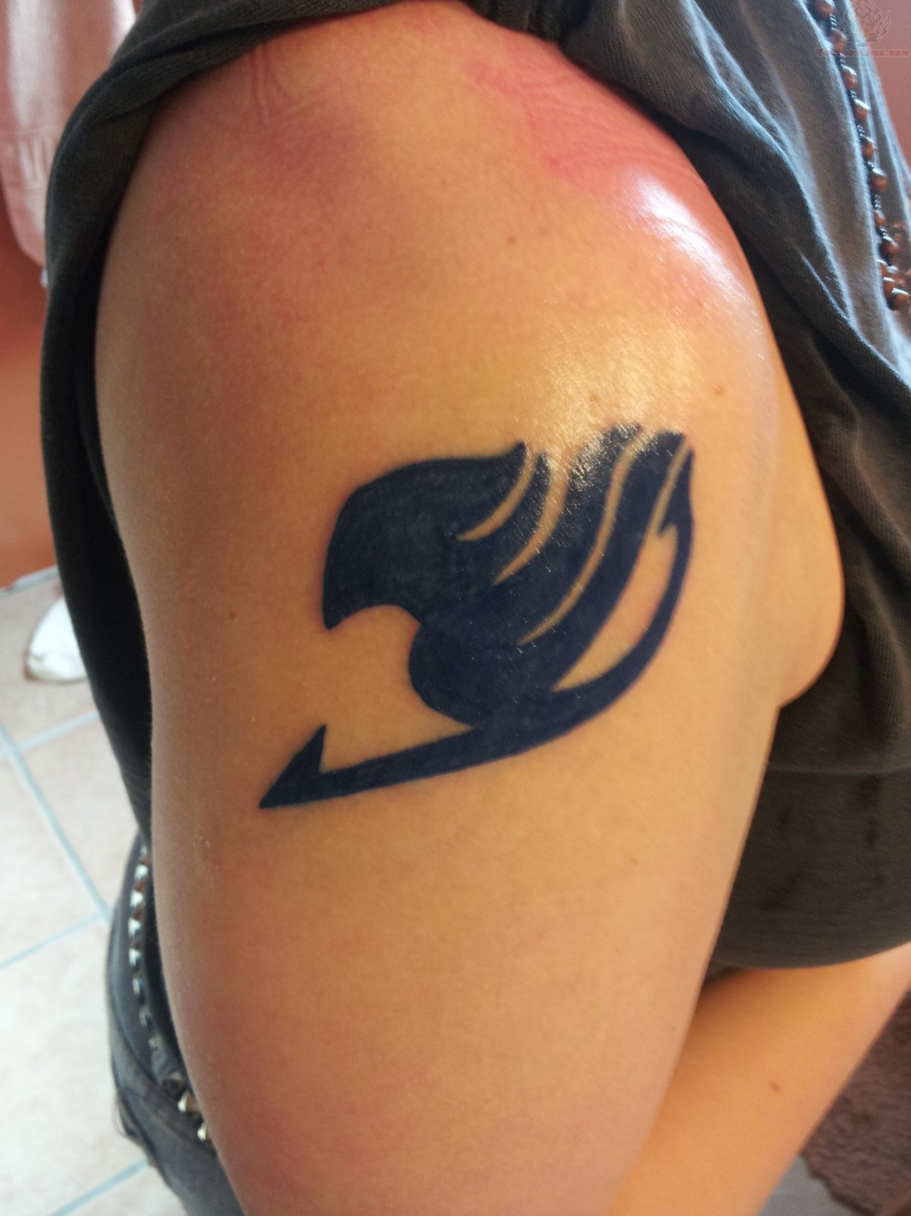 Fairy Tail Tattoo On Shoulder