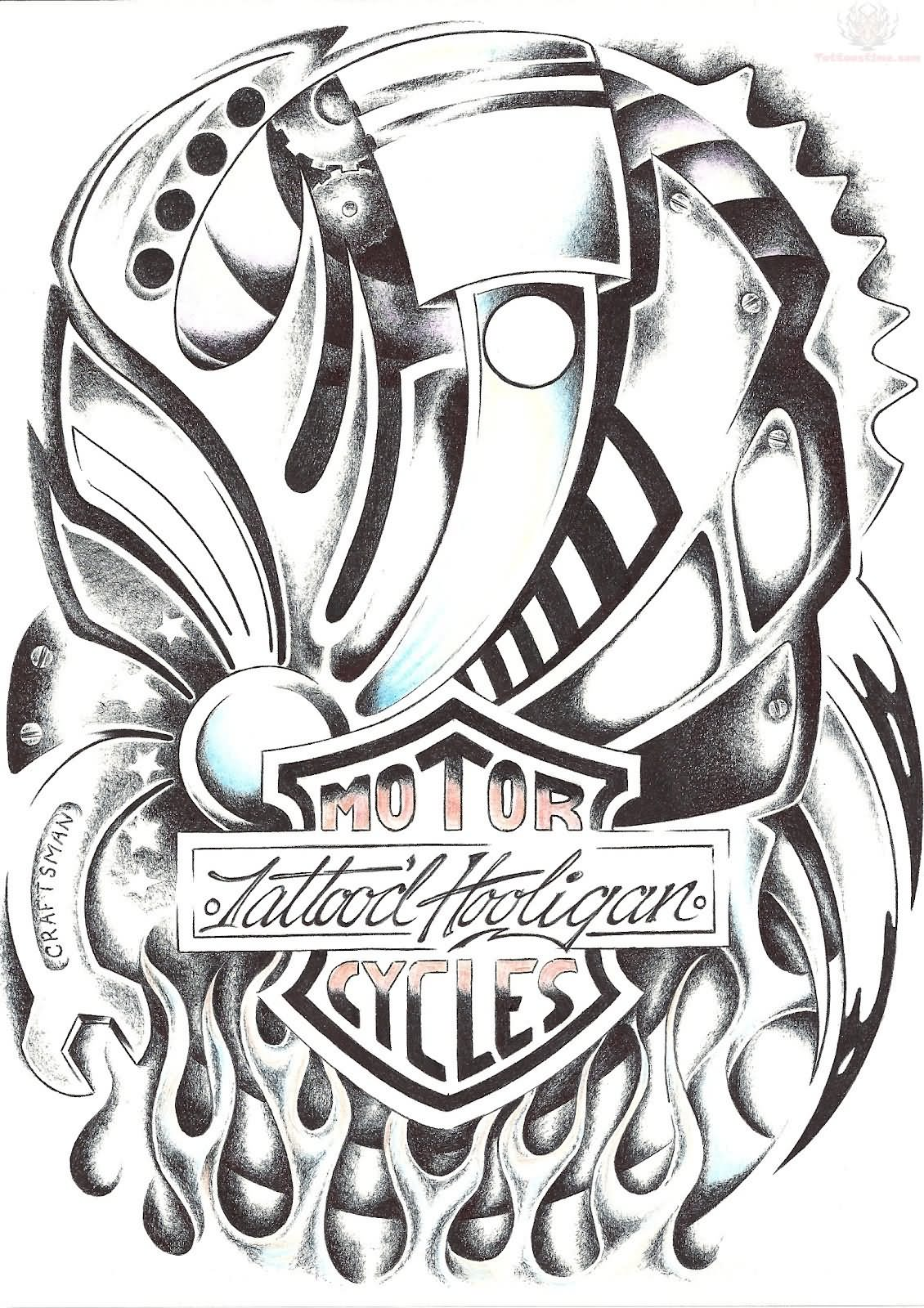 Harley Davidson Tattoo Images Amp Designs