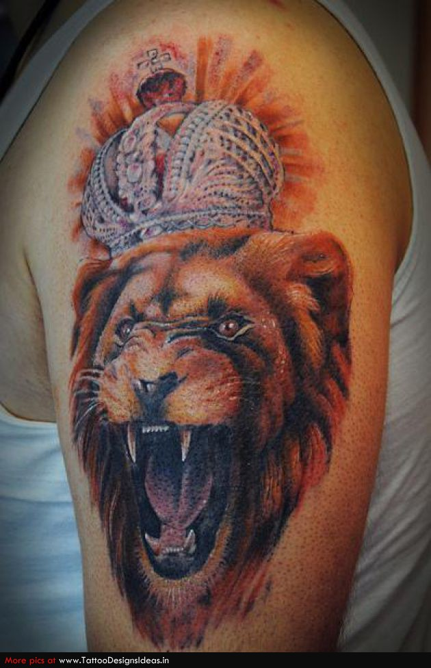 Lion Tattoo Crown Drawings