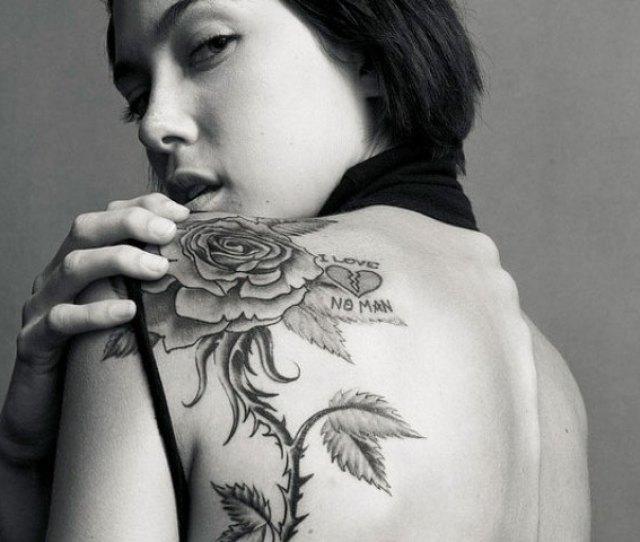 D Black Rose Tattoo