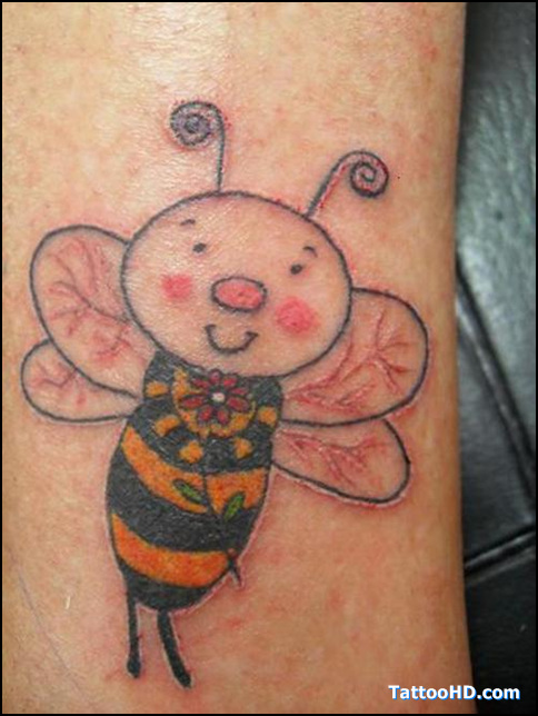 Vintage Honey Bee Tattoo
